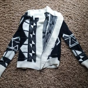 Black and white patterned cardigan
